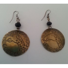 11 Brass Etched Earrings