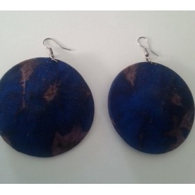 12 Blue and Grey Fabric Earrings